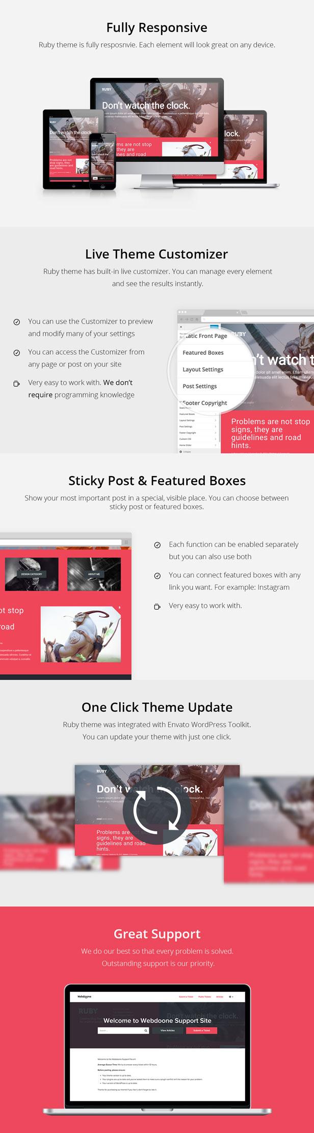 Ruby Theme - A Creative WordPress Blog Theme - 3